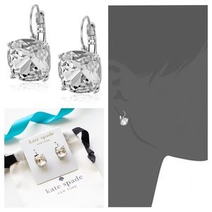 Kate Spade Square Solitaire Drop Earrings Clear